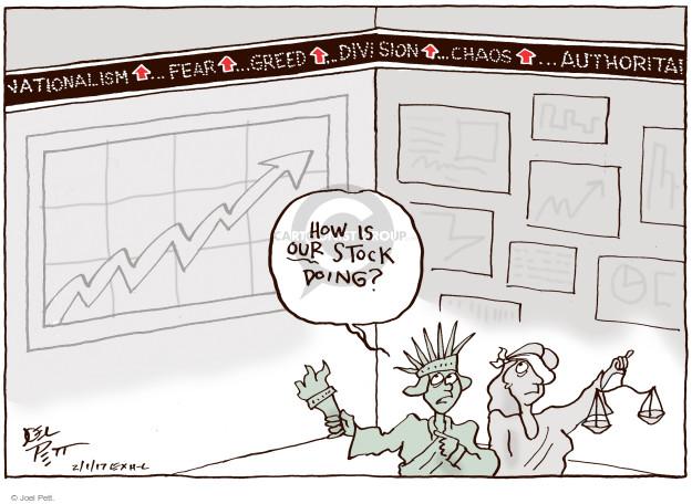 Cartoonist Joel Pett  Joel Pett's Editorial Cartoons 2017-02-01 greed