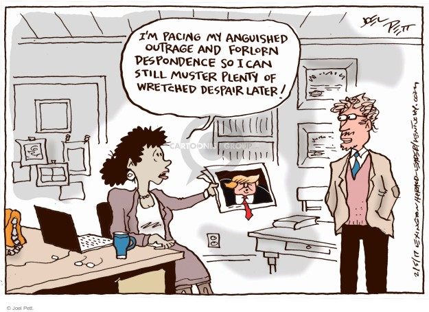 Cartoonist Joel Pett  Joel Pett's Editorial Cartoons 2017-02-05 reaction
