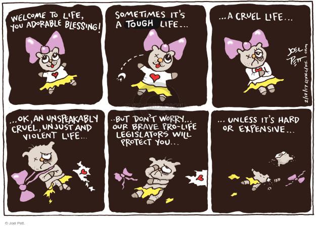 Cartoonist Joel Pett  Joel Pett's Editorial Cartoons 2017-02-12 baby