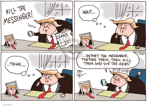 Joel Pett  Joel Pett's Editorial Cartoons 2017-02-16 presidential security
