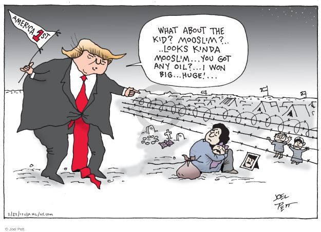 Cartoonist Joel Pett  Joel Pett's Editorial Cartoons 2017-02-22 discrimination