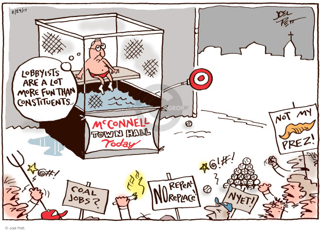 Joel Pett  Joel Pett's Editorial Cartoons 2017-02-23 Mitch McConnell