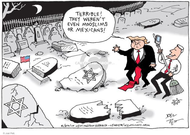 Cartoonist Joel Pett  Joel Pett's Editorial Cartoons 2017-02-24 religious discrimination