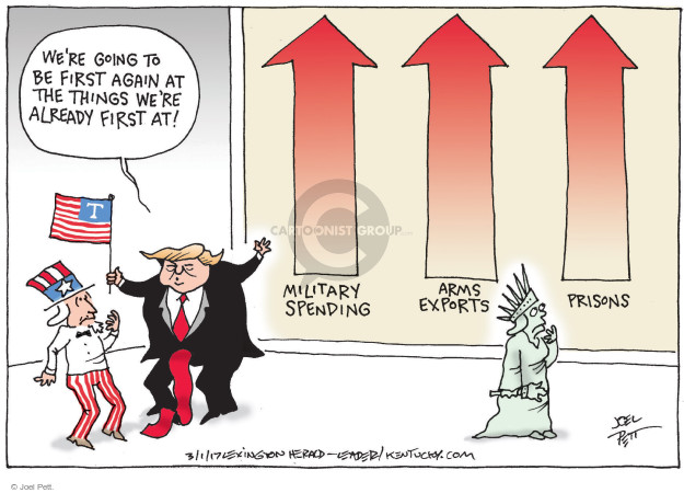 Joel Pett  Joel Pett's Editorial Cartoons 2017-03-01 incarceration