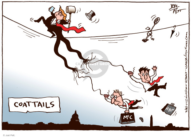 Joel Pett  Joel Pett's Editorial Cartoons 2017-03-08 Mitch McConnell