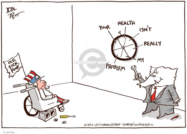 Cartoonist Joel Pett  Joel Pett's Editorial Cartoons 2017-03-09 congress health care