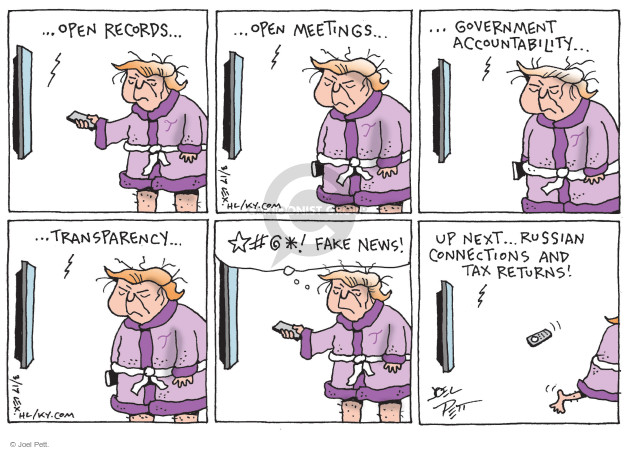 Cartoonist Joel Pett  Joel Pett's Editorial Cartoons 2017-03-11 fake news