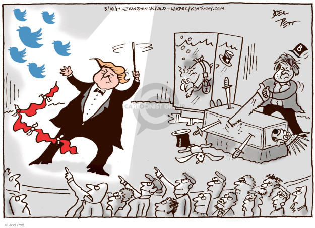 Joel Pett  Joel Pett's Editorial Cartoons 2017-03-16 media distraction