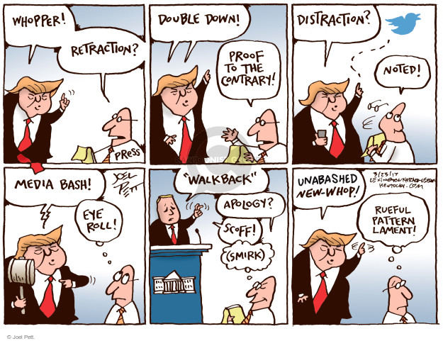 Joel Pett  Joel Pett's Editorial Cartoons 2017-03-23 media distraction