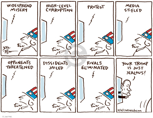 Cartoonist Joel Pett  Joel Pett's Editorial Cartoons 2017-04-02 Trump opposition