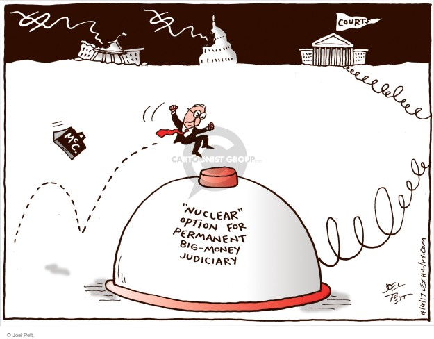 Joel Pett  Joel Pett's Editorial Cartoons 2017-04-04 Mitch McConnell