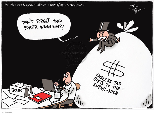Joel Pett  Joel Pett's Editorial Cartoons 2017-04-14 tax form