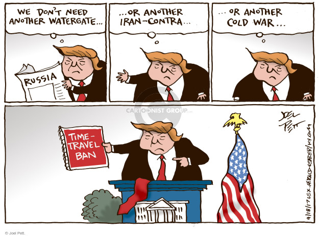Joel Pett  Joel Pett's Editorial Cartoons 2017-04-18 Cold War