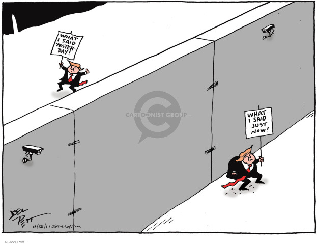 Cartoonist Joel Pett  Joel Pett's Editorial Cartoons 2017-04-28 building