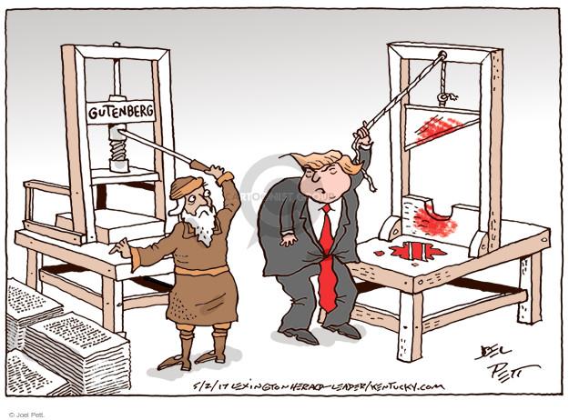 Joel Pett  Joel Pett's Editorial Cartoons 2017-05-02 political media