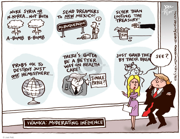 Cartoonist Joel Pett  Joel Pett's Editorial Cartoons 2017-05-04 nuclear