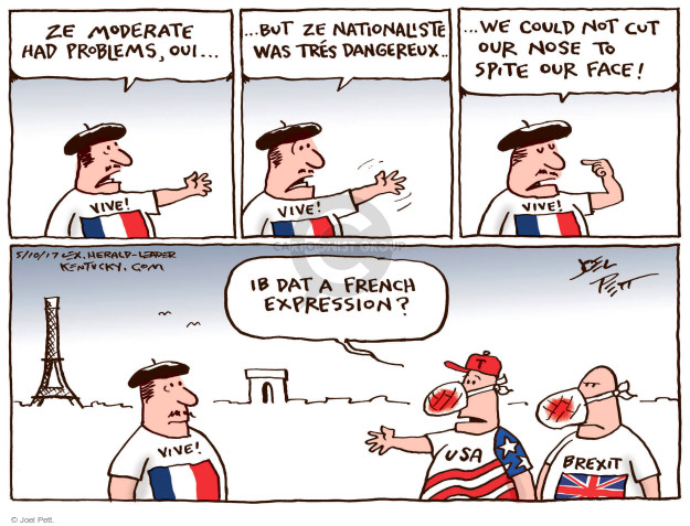 Cartoonist Joel Pett  Joel Pett's Editorial Cartoons 2017-05-10 face