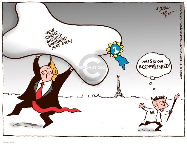 Cartoonist Joel Pett  Joel Pett's Editorial Cartoons 2017-06-04 Bush administration