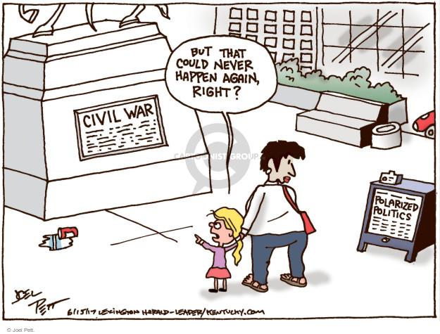 Cartoonist Joel Pett  Joel Pett's Editorial Cartoons 2017-06-15 partisan politics