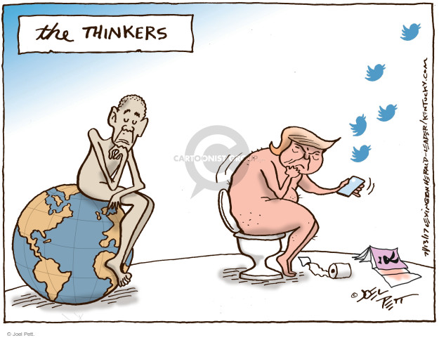 Cartoonist Joel Pett  Joel Pett's Editorial Cartoons 2017-07-13 Twitter