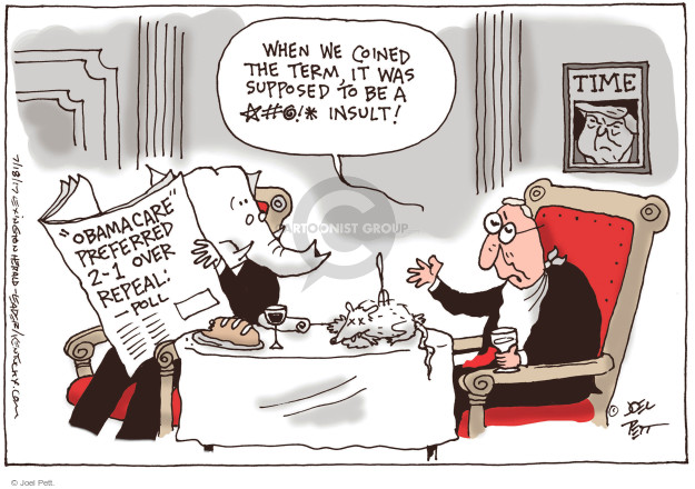 Joel Pett  Joel Pett's Editorial Cartoons 2017-07-18 coin