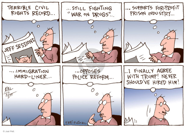 Joel Pett  Joel Pett's Editorial Cartoons 2017-07-25 staff