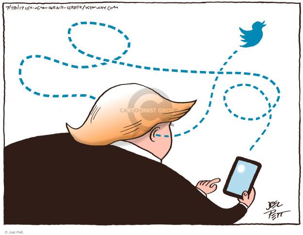 Cartoonist Joel Pett  Joel Pett's Editorial Cartoons 2017-07-28 social media politics