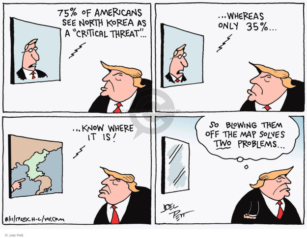 Cartoonist Joel Pett  Joel Pett's Editorial Cartoons 2017-08-11 North America
