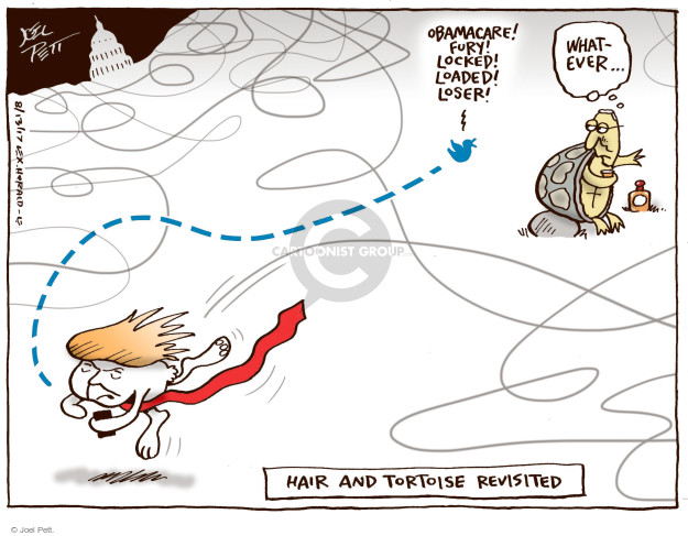 Joel Pett  Joel Pett's Editorial Cartoons 2017-08-13 Mitch McConnell