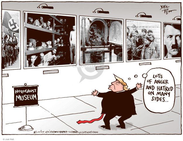 Cartoonist Joel Pett  Joel Pett's Editorial Cartoons 2017-08-17 politics