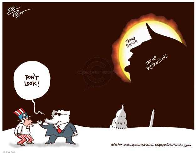 Cartoonist Joel Pett  Joel Pett's Editorial Cartoons 2017-08-18 politics