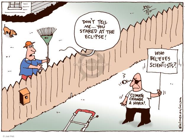 Joel Pett  Joel Pett's Editorial Cartoons 2017-08-22 science