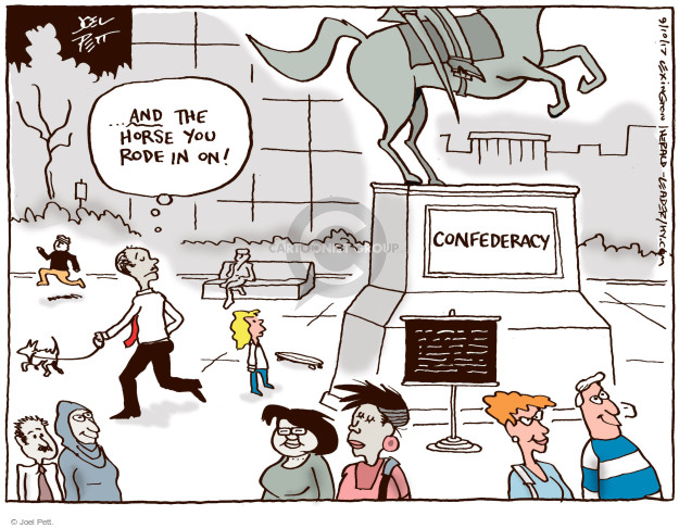 Joel Pett  Joel Pett's Editorial Cartoons 2017-09-10 racism
