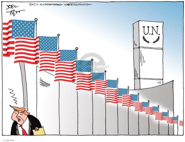 Joel Pett  Joel Pett's Editorial Cartoons 2017-09-21 rhetoric