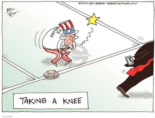 Cartoonist Joel Pett  Joel Pett's Editorial Cartoons 2017-09-27 social media politics