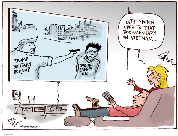 Joel Pett  Joel Pett's Editorial Cartoons 2017-09-30 United States Military