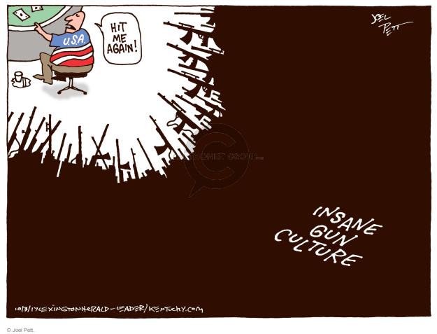 Cartoonist Joel Pett  Joel Pett's Editorial Cartoons 2017-10-03 gun violence