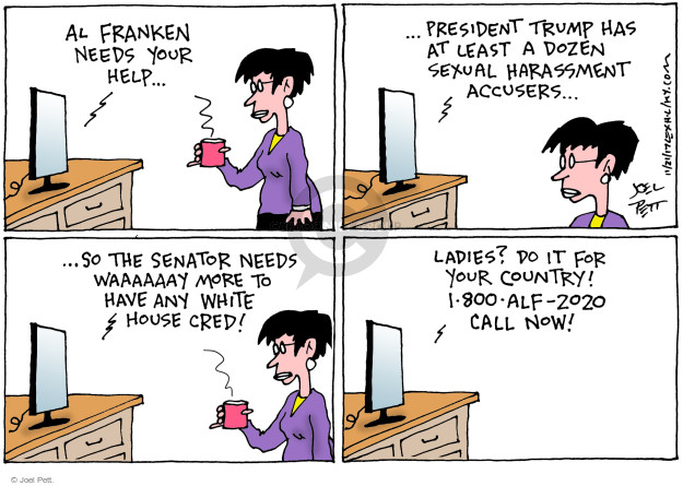 Cartoonist Joel Pett  Joel Pett's Editorial Cartoons 2017-11-21 White House