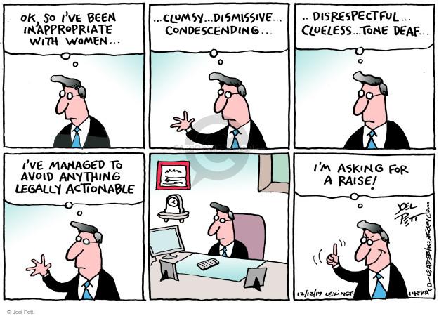 Joel Pett  Joel Pett's Editorial Cartoons 2017-12-12 inappropriate