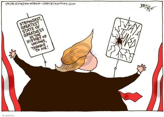 Cartoonist Joel Pett  Joel Pett's Editorial Cartoons 2018-01-31 state politician