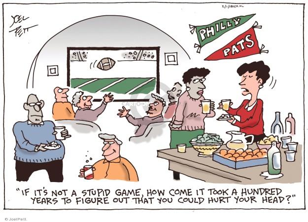 Cartoonist Joel Pett  Joel Pett's Editorial Cartoons 2018-02-01 Super Bowl