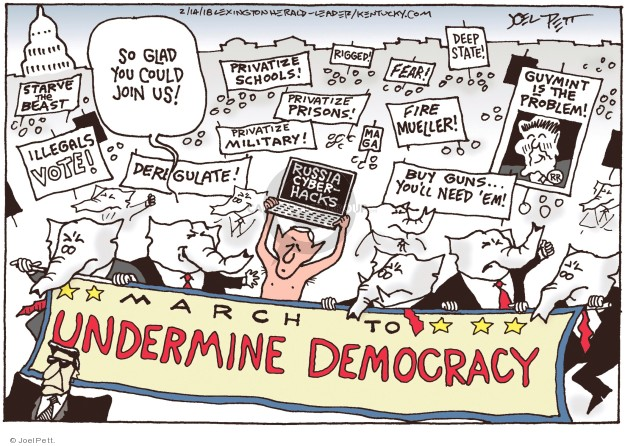 Cartoonist Joel Pett  Joel Pett's Editorial Cartoons 2018-02-14 Massachusetts