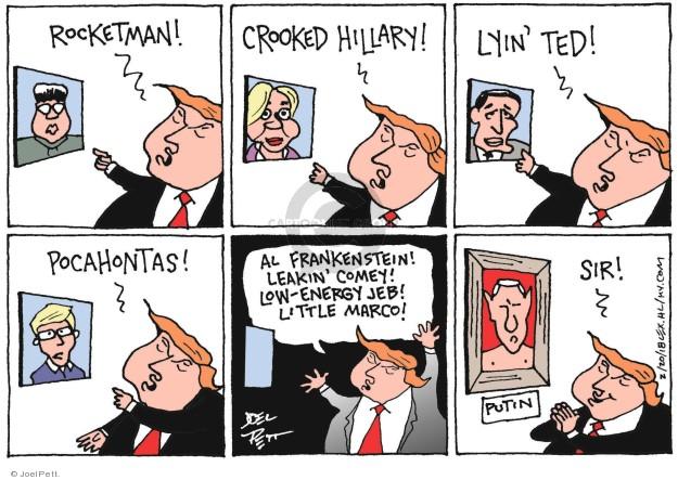Joel Pett  Joel Pett's Editorial Cartoons 2018-02-20 Vladimir Putin