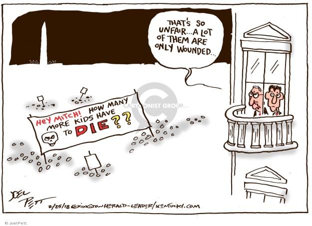 Cartoonist Joel Pett  Joel Pett's Editorial Cartoons 2018-02-25 assault weapon