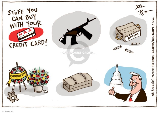 Stuff you can buy with your credit card! NRA. Ammo. Condolence.