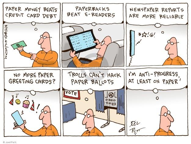 Cartoonist Joel Pett  Joel Pett's Editorial Cartoons 2018-03-07 debt