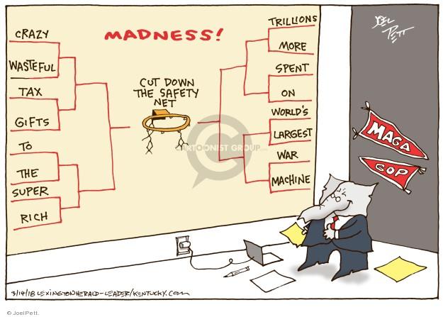 Joel Pett  Joel Pett's Editorial Cartoons 2018-03-14 budget