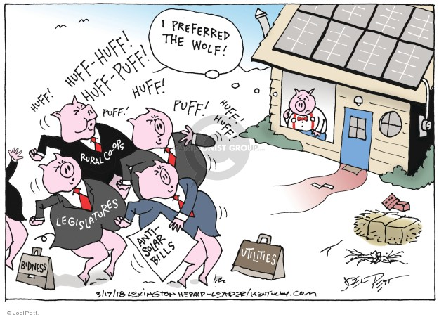 Joel Pett  Joel Pett's Editorial Cartoons 2018-03-17 energy source