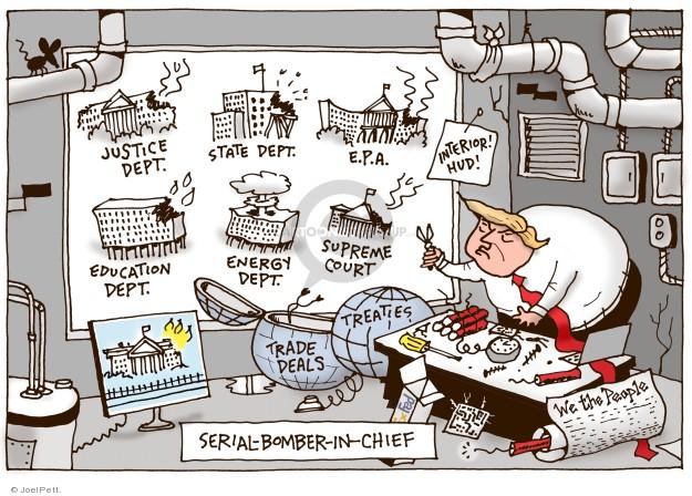 Cartoonist Joel Pett  Joel Pett's Editorial Cartoons 2018-03-21 State Department