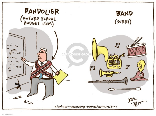 Bandolier (future school budget item). Band (sorry).